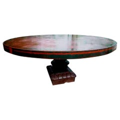 Large Cast Iron Round Table