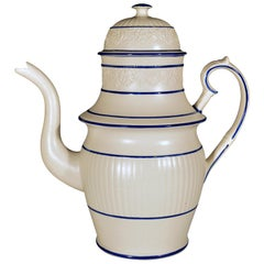 Large Castleford-Type Pottery Coffee Pot and Cover
