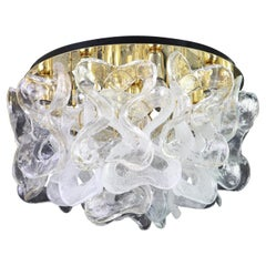 Large Catena Ceiling Fixture with Murano Glasses by Kalmar, Austria, 1960s