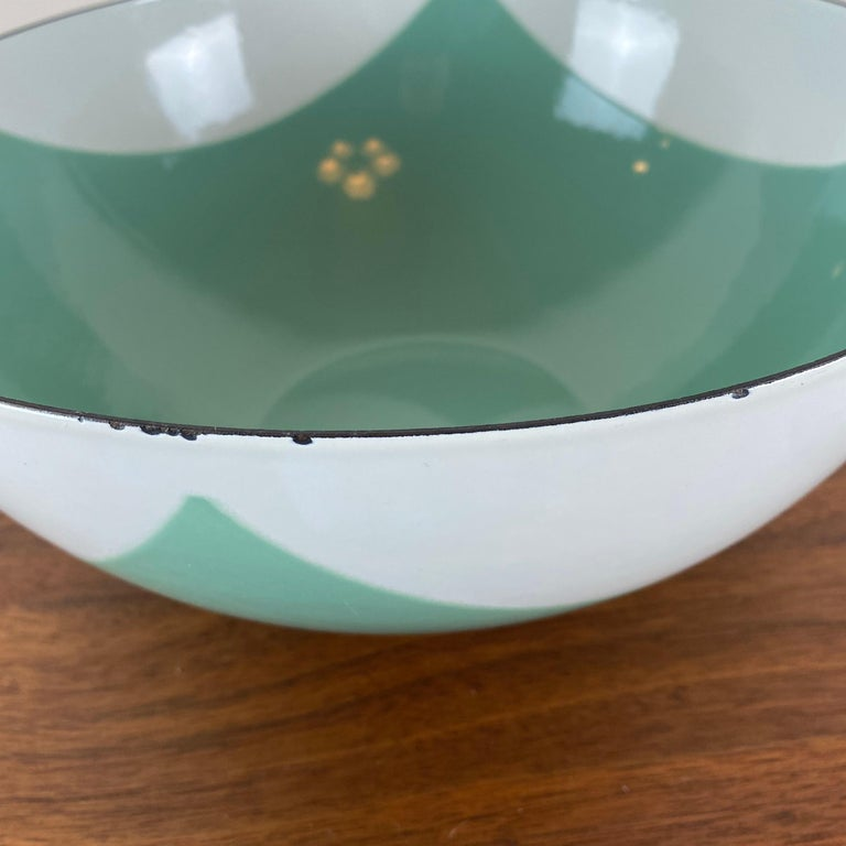 20th Century Large Catherineholm Flag Bowl, Seafoam Green Enamel For Sale
