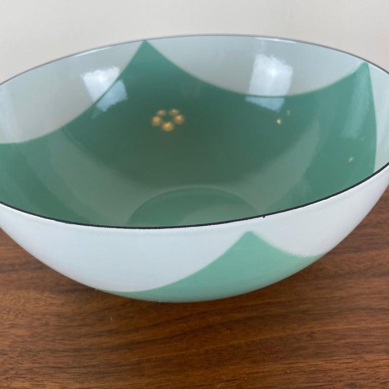 Large Catherineholm Flag Bowl, Seafoam Green Enamel For Sale 1