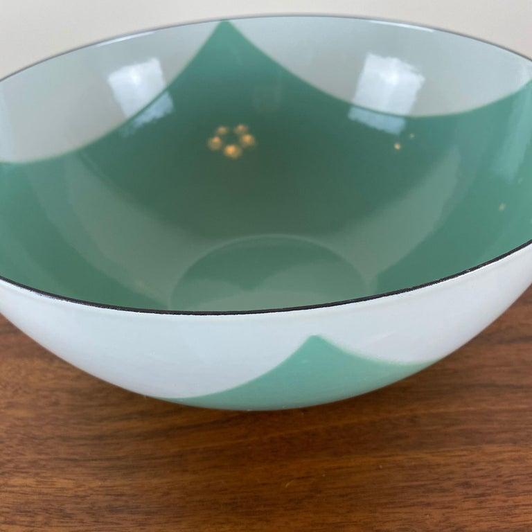 Large Catherineholm Flag Bowl, Seafoam Green Enamel For Sale 2