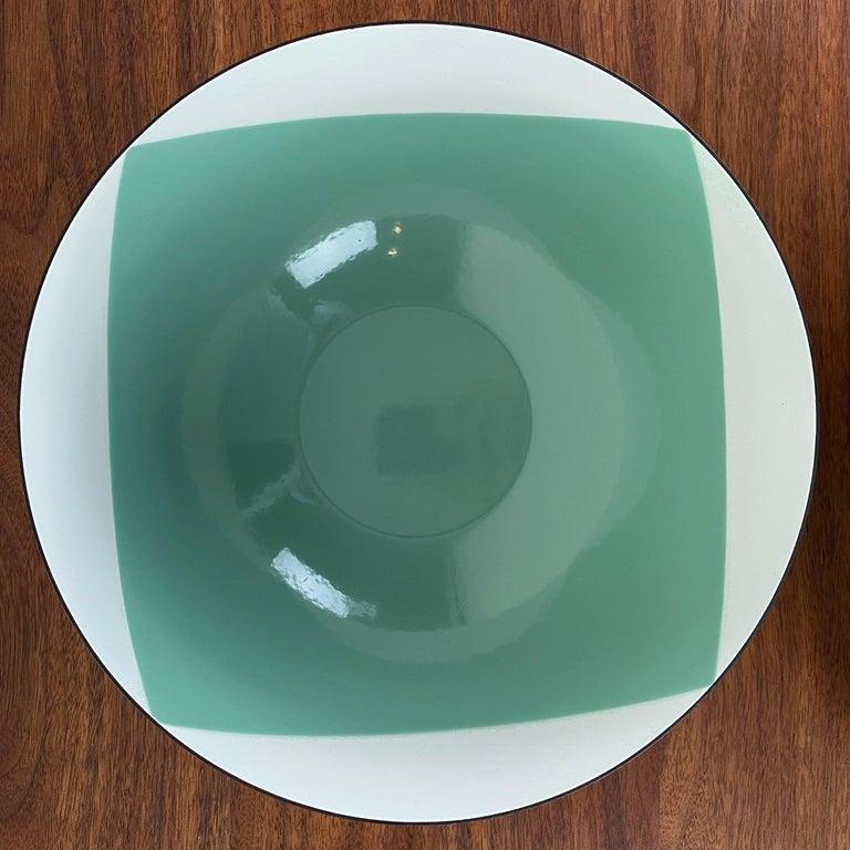Large Catherineholm Flag Bowl, Seafoam Green Enamel For Sale 3