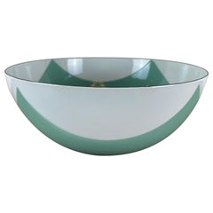 Large Catherineholm Flag Bowl, Seafoam Green Enamel