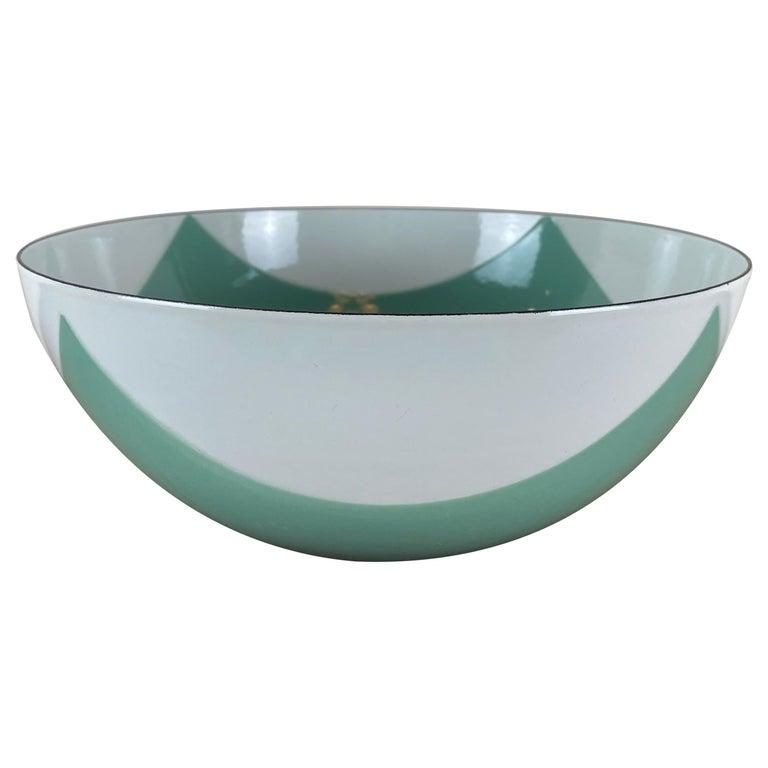 Large Catherineholm Flag Bowl, Seafoam Green Enamel For Sale