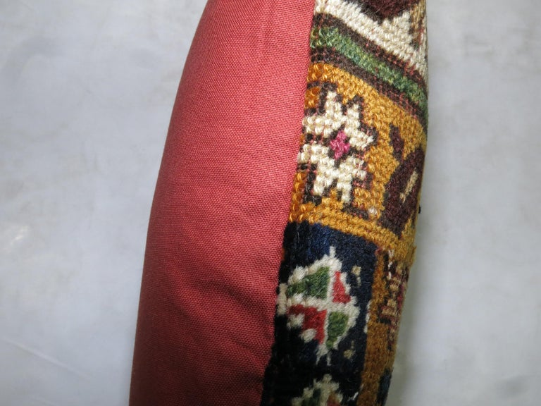 Large Caucasian Shirvan Pillow In Good Condition For Sale In New York, NY