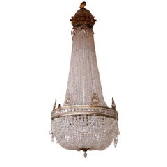 Large Ceiling Lamp Bronze Glass Manufactured in Italy Early 1900