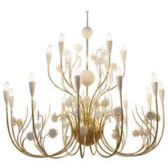 Large Ceiling Lamp Gran Flora, Italy, 1950s