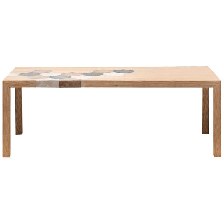 Large Cementino Dining Table in Natural Finish by Mogg For Sale