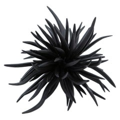 Large Ceramic Black Walking Urchin