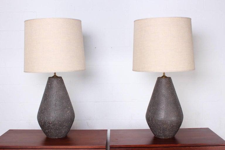 Large Ceramic Lamps In Good Condition For Sale In Dallas, TX