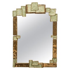 Large Ceramic Mirror by Mithé Espelt