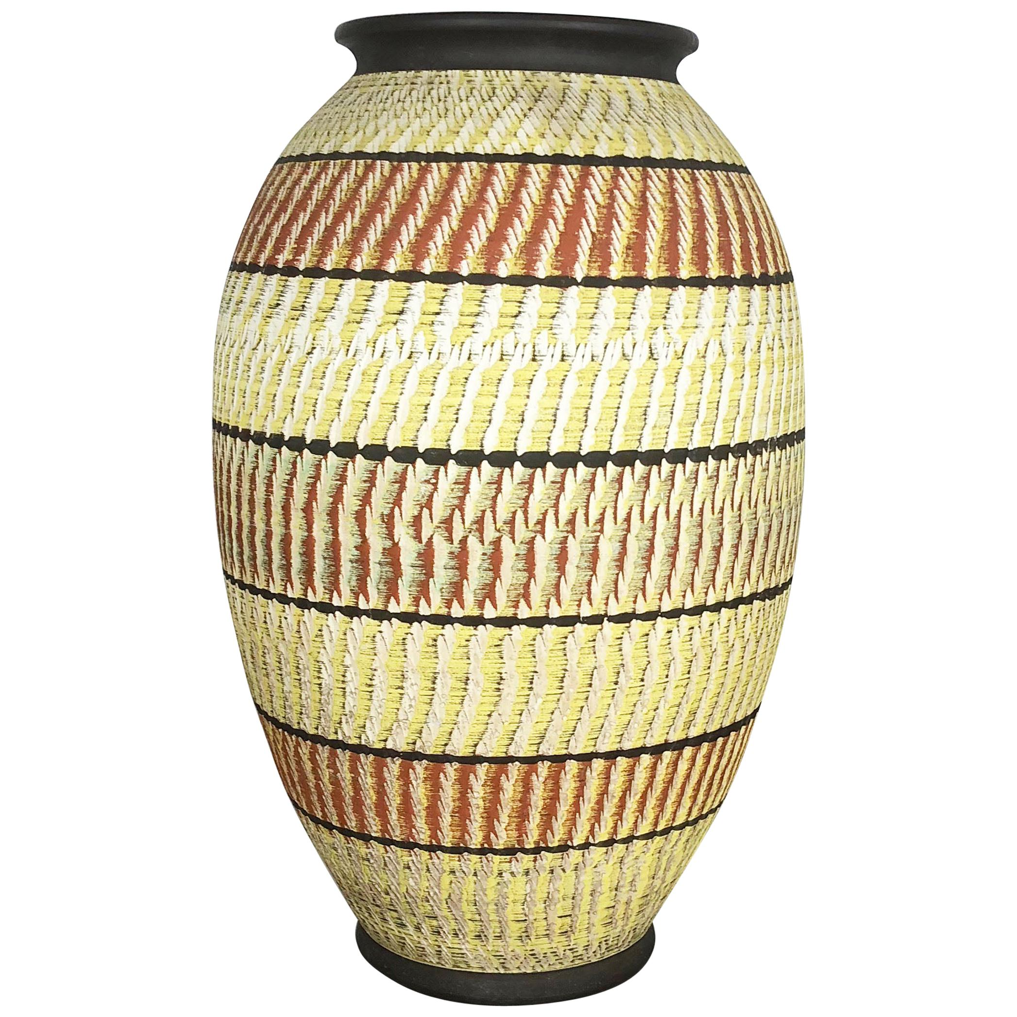 Large abstract Ceramic Pottery Floor Vase by Zöller and Born, Germany, 1950s