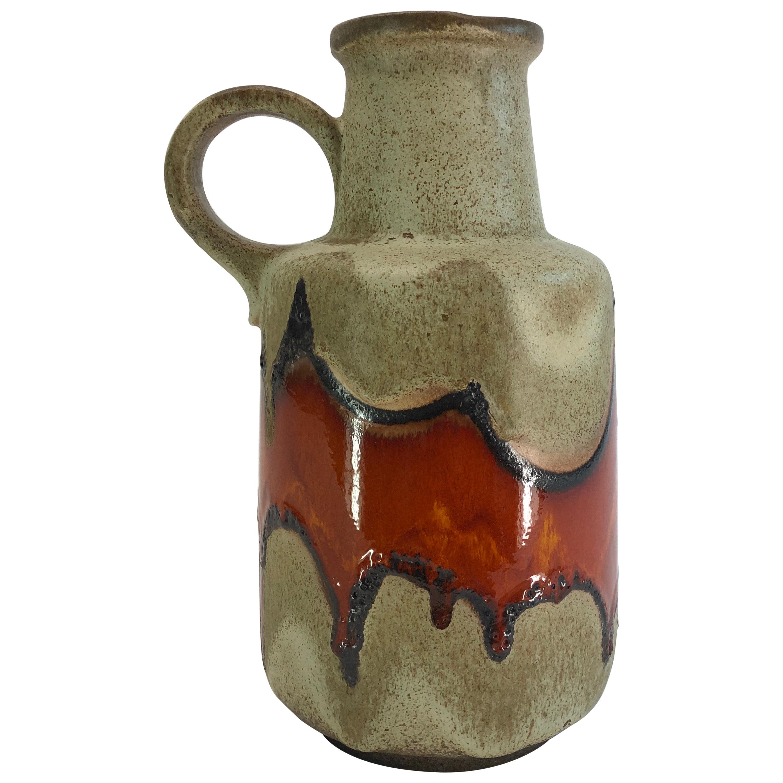 Large Ceramic Vase, '1970's Fat Lava, Scheurich, West-Germany