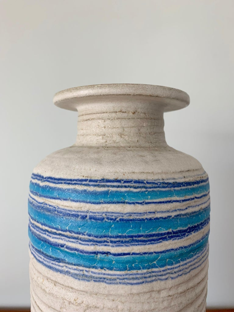 Italian Large Ceramic Vase by Bitossi, 1960s For Sale