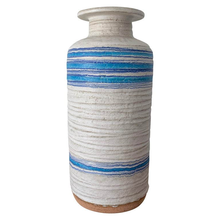 Large Ceramic Vase by Bitossi, 1960s For Sale
