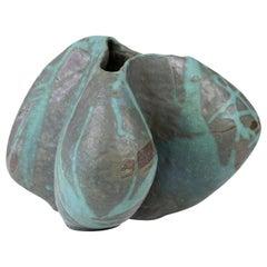 Large Ceramic Vase by Danish Artist Ole Victor, 2021