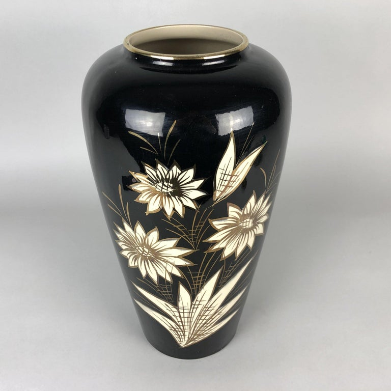 Glazed Large Ceramic Vase by Scheurich, Germany 1960s For Sale