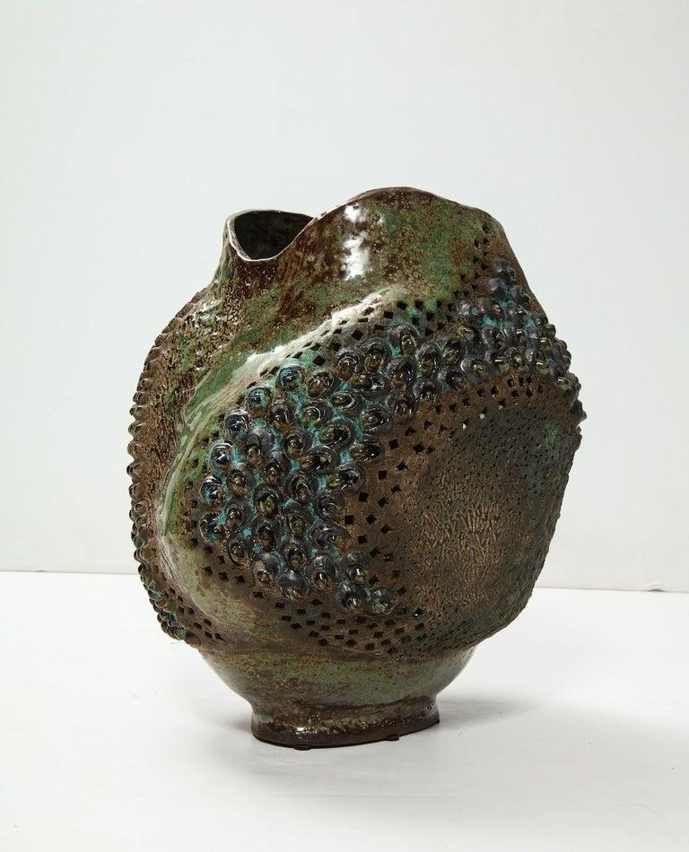 Modern Large Ceramic Vessel by Dena Zemsky For Sale