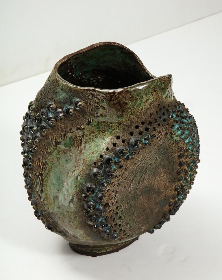 Contemporary Large Ceramic Vessel by Dena Zemsky For Sale