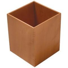 Gae Aulenti Large Cestino Portacarta Wood Wastepaper Basket for Bottega Ghianda