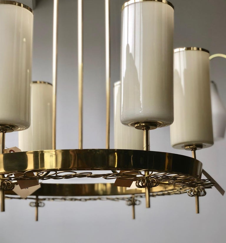 Scandinavian Modern Large Chandelier by Paavo Tynell for Taito Oy For Sale
