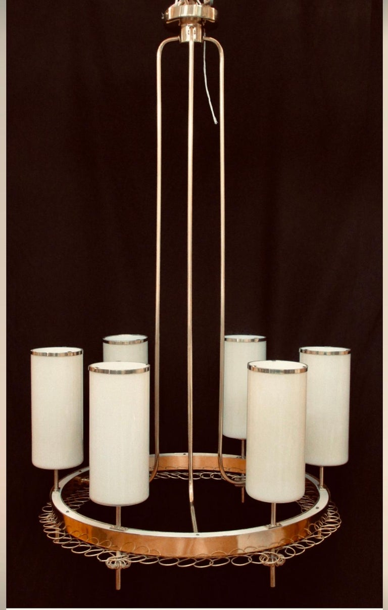 Finnish Large Chandelier by Paavo Tynell for Taito Oy For Sale
