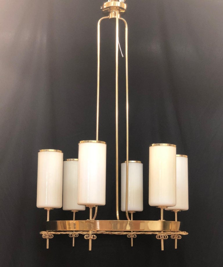 Large Chandelier by Paavo Tynell for Taito Oy In Excellent Condition For Sale In Long Island City, NY
