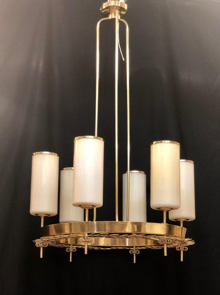 Mid-20th Century Large Chandelier by Paavo Tynell for Taito Oy For Sale