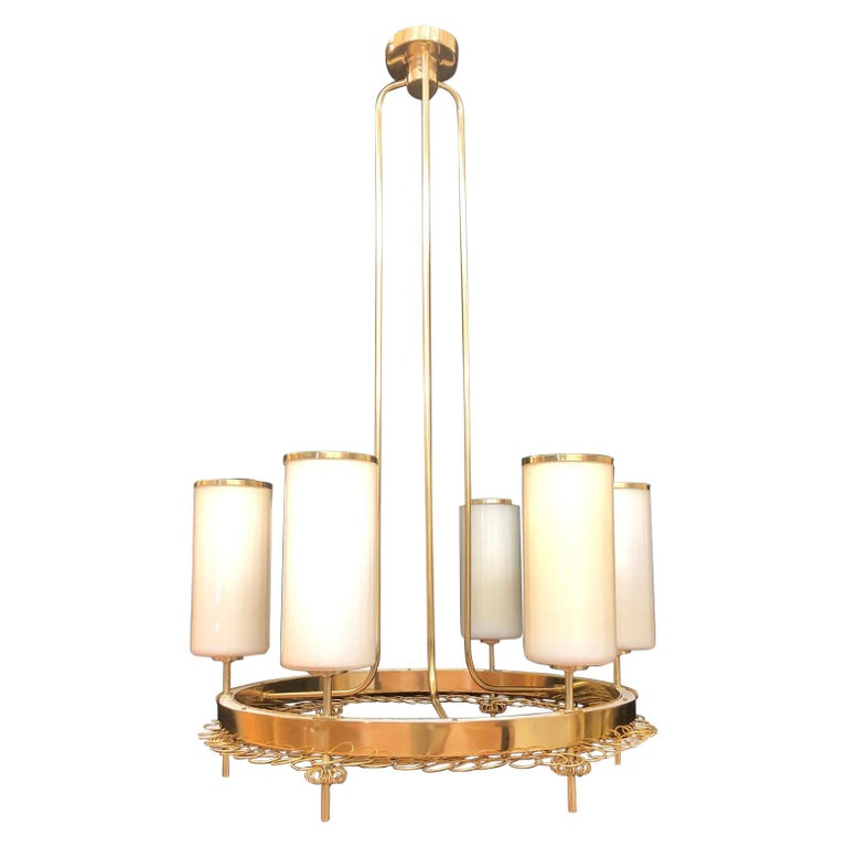 Large Chandelier by Paavo Tynell for Taito Oy For Sale