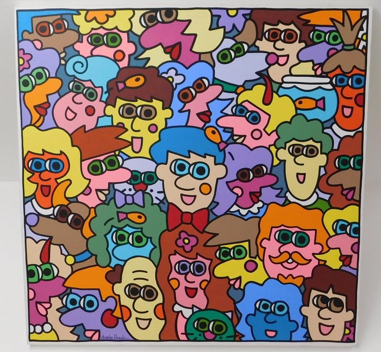 Large Charles Houska Original Acrylic on Canvas Painting For Sale 1