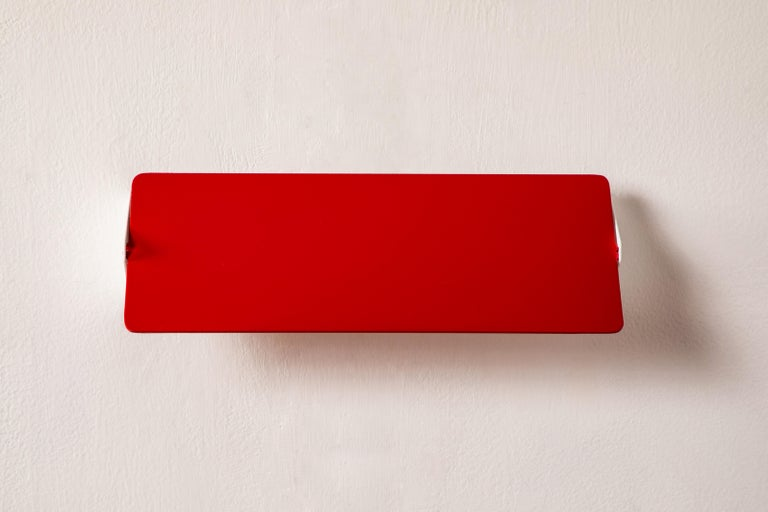 Large Charlotte Perriand 'Applique À Volet Pivotant Double' Wall Lights in Red For Sale 5