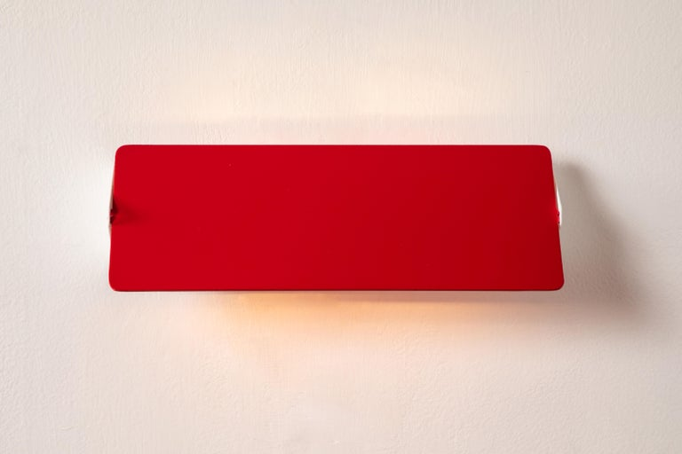 Large Charlotte Perriand 'Applique À Volet Pivotant Double' Wall Lights in Red For Sale 6