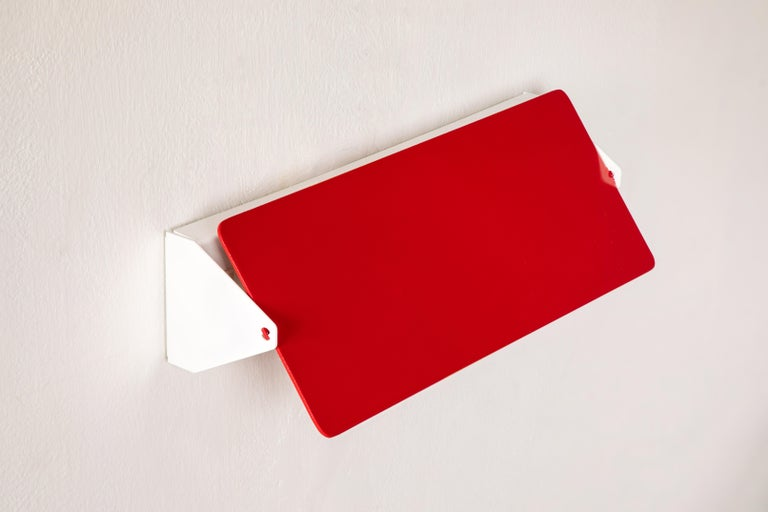 Large Charlotte Perriand 'Applique À Volet Pivotant Double' Wall Lights in Red For Sale 1
