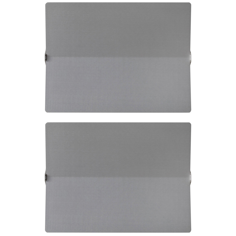Large Charlotte Perriand 'Applique À Volet Pivotant Plié' Wall Light in Aluminum