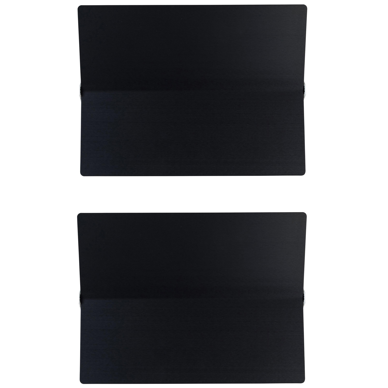 Large Charlotte Perriand 'Applique À Volet Pivotant Plié' Wall Light in Black