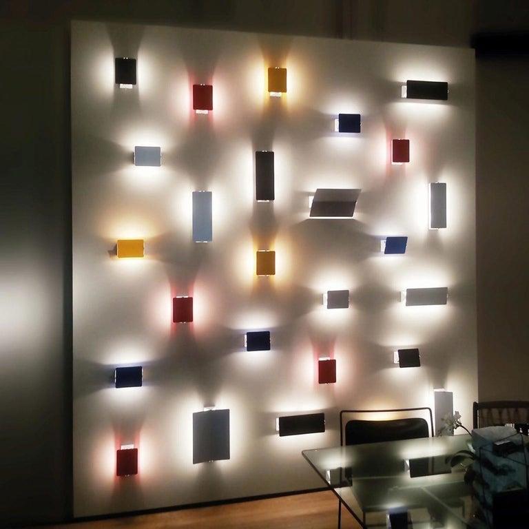 Large Charlotte Perriand 'Applique À Volet Pivotant Plié' Wall Light in Blue For Sale 7