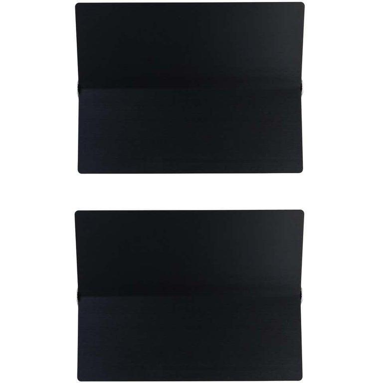 Large Charlotte Perriand 'Applique À Volet Pivotant Plié' Wall Light in Blue For Sale 8