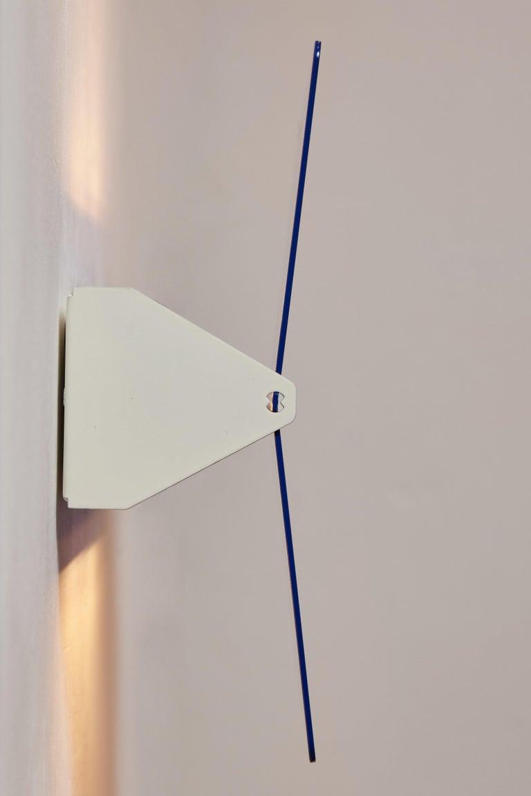 Contemporary Large Charlotte Perriand 'Applique À Volet Pivotant Plié' Wall Light in Blue For Sale