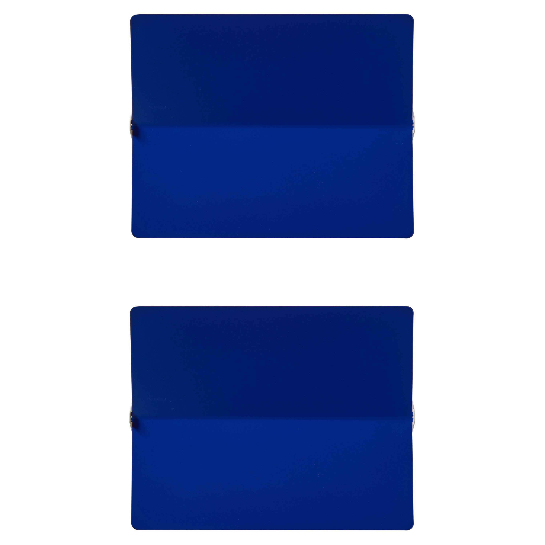 Large Charlotte Perriand 'Applique À Volet Pivotant Plié' Wall Light in Blue