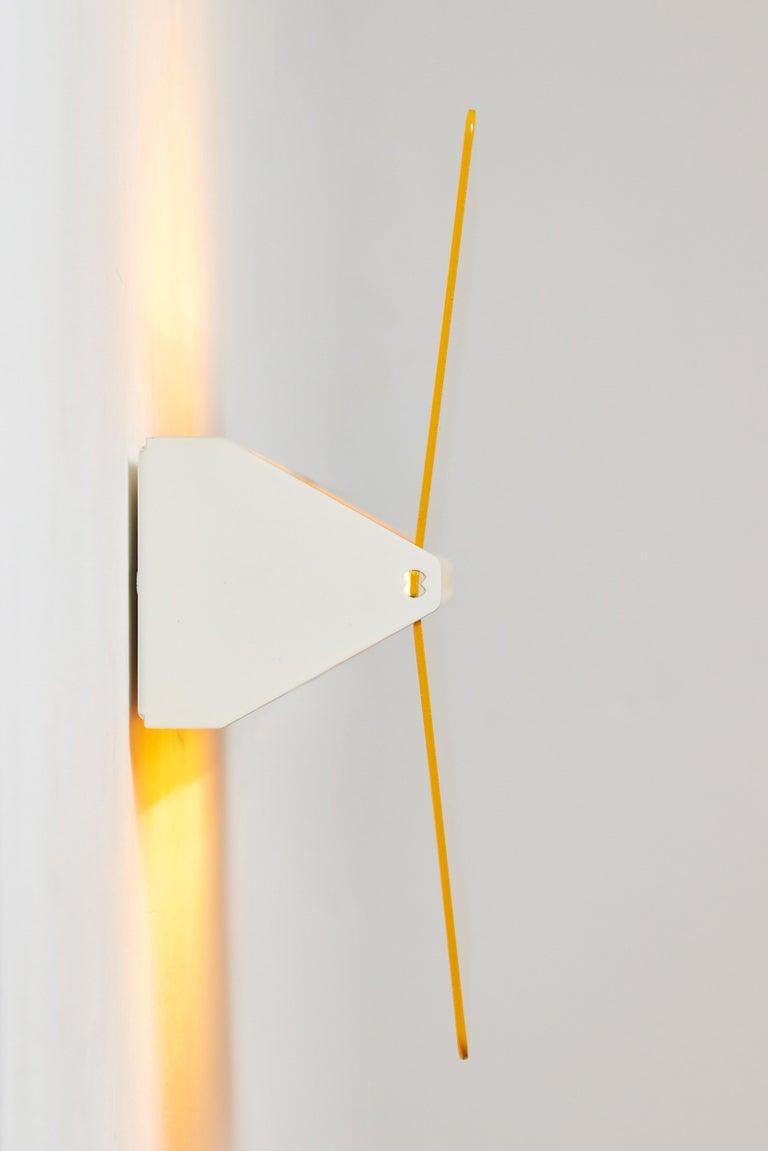 Large Charlotte Perriand 'Applique À Volet Pivotant Plié' Wall Light in Yellow For Sale 2