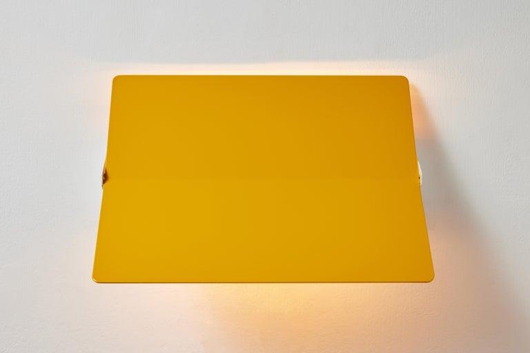 Large Charlotte Perriand 'Applique À Volet Pivotant Plié' Wall Light in Yellow For Sale 3