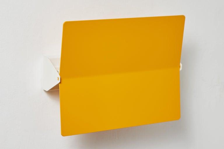Large Charlotte Perriand 'Applique À Volet Pivotant Plié' Wall Light in Yellow For Sale 4