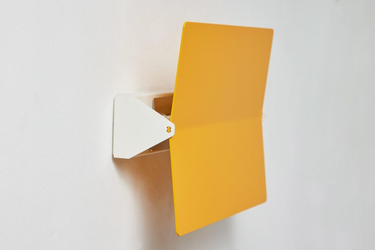 Large Charlotte Perriand 'Applique À Volet Pivotant Plié' Wall Light in Yellow For Sale 5