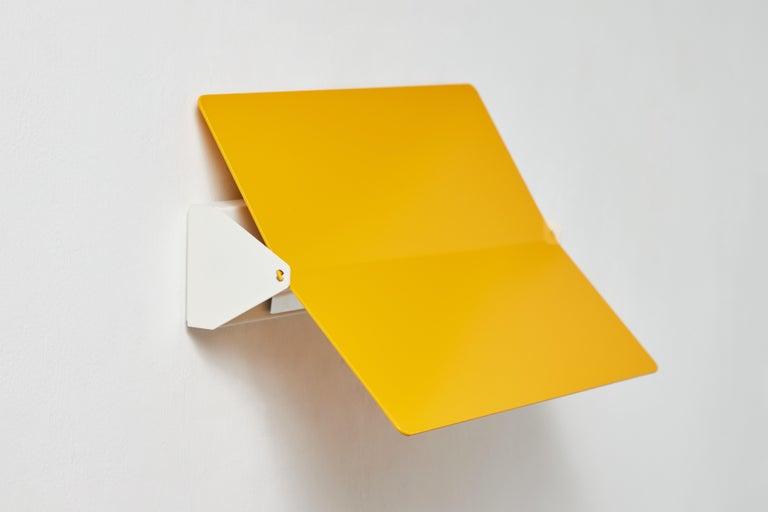 Large Charlotte Perriand 'Applique À Volet Pivotant Plié' Wall Light in Yellow For Sale 6