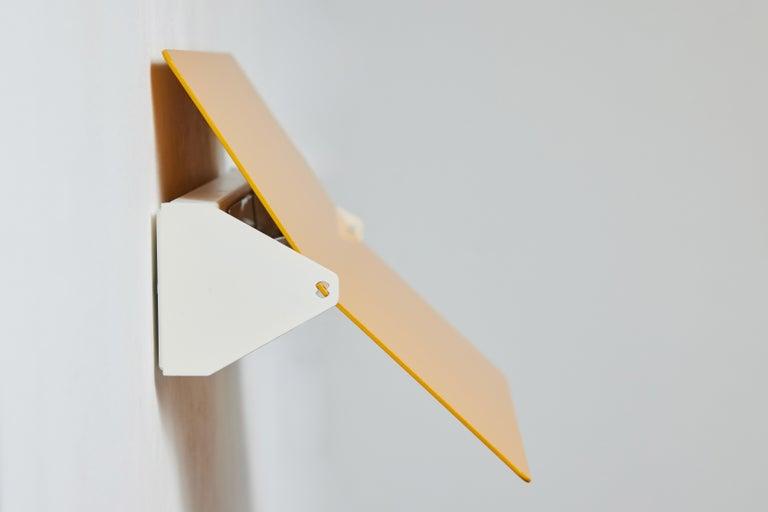 Large Charlotte Perriand 'Applique À Volet Pivotant Plié' Wall Light in Yellow For Sale 7