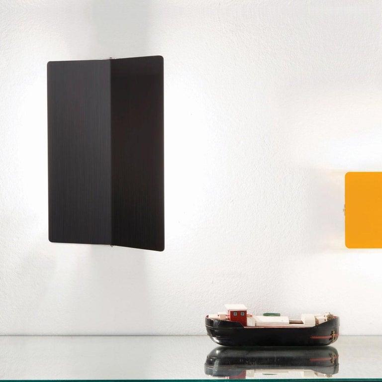 Mid-Century Modern Large Charlotte Perriand 'Applique À Volet Pivotant Plié' Wall Light in Yellow For Sale