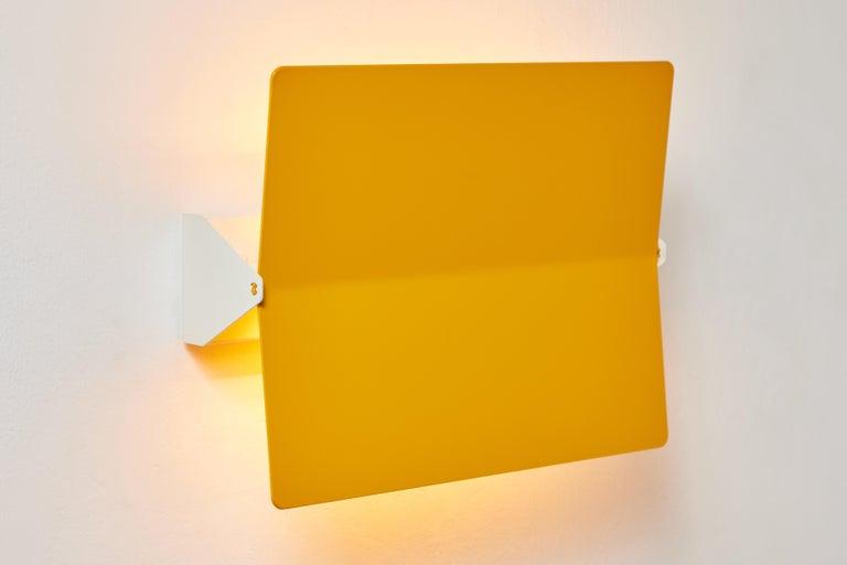 Contemporary Large Charlotte Perriand 'Applique À Volet Pivotant Plié' Wall Light in Yellow For Sale