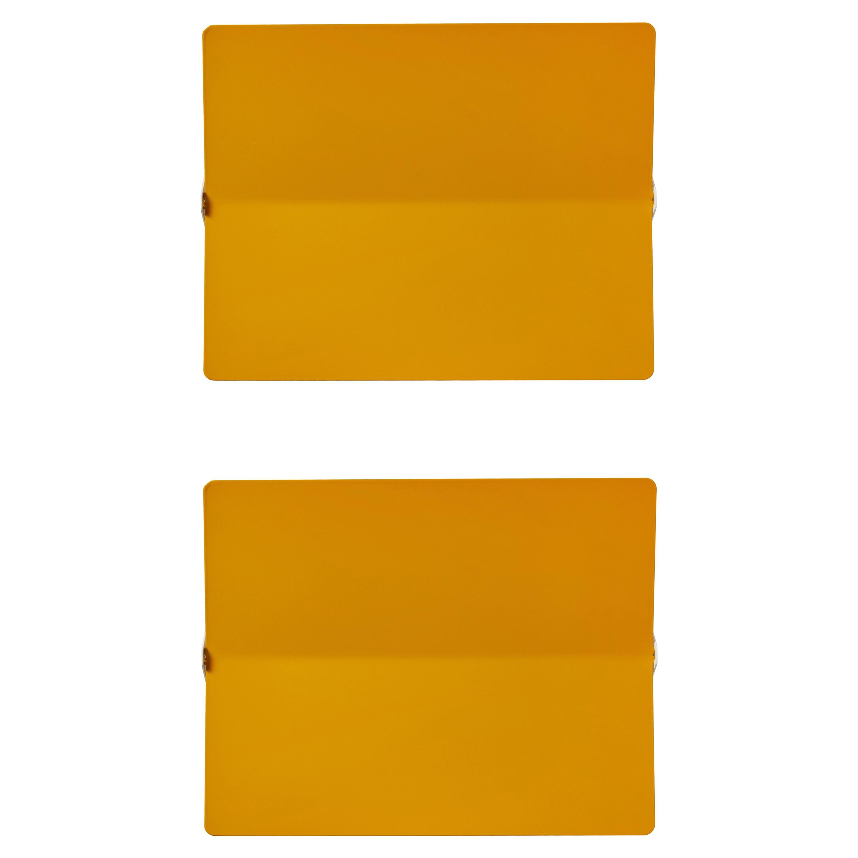 Large Charlotte Perriand 'Applique À Volet Pivotant Plié' Wall Light in Yellow