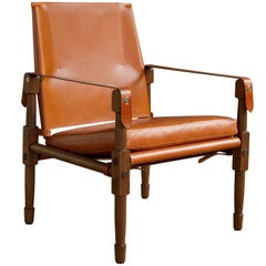 Large Chatwin Lounge Chair in Oiled Walnut with Leather Upholstery